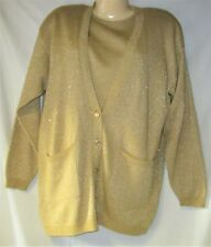 67a090bc7e Women s Twinset Sweater Gold Metallic Size Medium