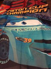 Kids Cars Racing Cars Fabric Shower Curtain 3X Piston Cup Champion NEW