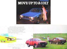 Mitsubishi Range Colt Lancer Celeste Sapporo Sigma 1400 L200 1979 UK Brochure