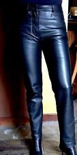 Micheal Hoban North Beach Leather Vtg 80 High Waist  Black Leather Pant Sz 3-4