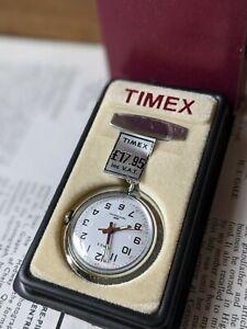New Old Stock Retro Timex Nurses Fob In Presentation Box 1986 Unused - Working