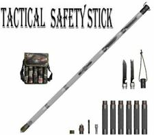 Folding Safety Stick Outdoor Tactical Hike Walking Camping Survival Defence Tool