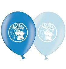 """Baby Shower Elephant 12""""  Blue Assorted Latex Balloons pack of 6"""