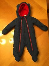 Koala Baby Baby Boy Blue with double Red zippers Jumpsuit Romper 0-3 Months