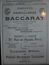 BACCARAT 1916 CRISTALLI INTAGLIATO Catalogo livrecristalleries 39 PAGINE PDF