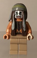 Lego Lone Ranger Movie Tonto Indian Johnny Depp Minifigure Genuine Rare Figure