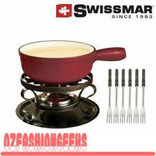 Swissmar Lugano Cast Iron Fondue Set Chery 75842 PI