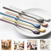 Rainbow Stainless Steel Unicorn Mermaid Long Handle Tea Spoon Kitchen Cutlery