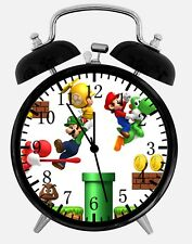 "Super Mario Games Alarm Desk Clock 3.75"" Home or Office Decor W376 Nice For Gift"