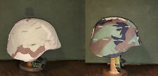 GENUINE US MILITARY KEVLAR COMBAT HELMET with WOODLAND & DESERT COVERS - ARMY