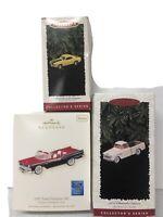 Lot of 3 Hallmark Keepsake Collector Series Ornament Fairlane Camaro Car & Truck