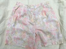 "Vintage-y 90s Jones New York Linen shorts floral 30"" waist"