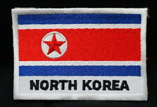 """NORTH KOREA FLAG EMBLEM PATCH SEW ON EASY TO USE 2""""x3"""""""