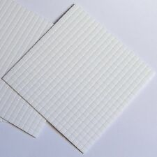 5mmx5mmx2mm Thick White Sticky Foam Pads x 400 Pads, Double Sided, Acid Free