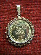 1972 MUNICH SUMMER OLYMPICS 8K YELLOW GOLD  PENDANT - NEAT SOUVENIR - MUST SEE