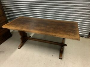 Solid Oak Refectory Dining Table By Titchmarsh & Goodwin