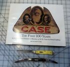 Lot of 2 Vintage Case Knives 1 Stockman and 1 Trapper w book Case The First