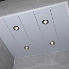 Gloss White Bathroom PVC Panels Ceiling Cladding Kitchen Shower Wall Pack Cheap