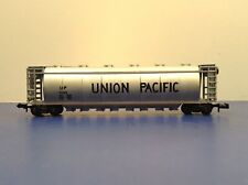 """N Scale """"Union Pacific"""" UP 21382 Covered Hopper Freight Train / Aurora Brand"""
