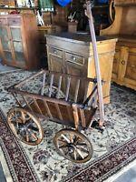 Antique Primitive Large Wooden Goat Cart