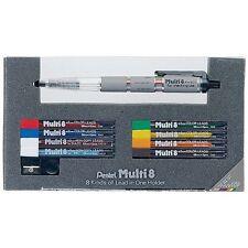 Japan Pentel 2.0mm Mechanical Pencil Japanese Multi 8 colors Pen PH802ST F/S New