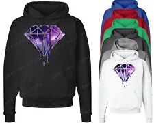 Galaxy Bleeding DIAMOND Hoodie Melting Dripping Diamond Illuminati sweatshirts
