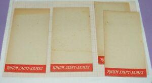 CARNETS PUBLICITAIRES RHUM SAINT-JAMES BLOC-NOTES SOLIDARISÉS PUB ANCIENNE /T358