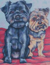 PUNTO Croce Kit 2 Yorkshire Terrier Cani 2