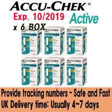 ACCU CHEK Active Test Strips 50x6(300Sheets) Tracking number, Expiration:10/2019