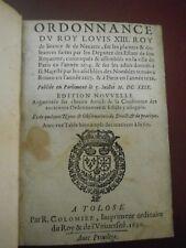 Ordonnance du Roy Louis XIII Réforme Obéissance la Rochelle Edit de Nantes 1626