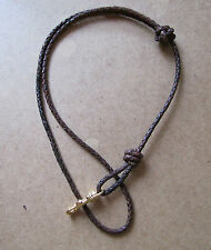 Lanyards in Antique Brown or Black Braided Leather