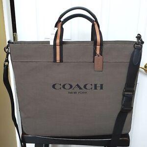COACH TOTE 43 W/COACH SCRIPT:NWT MOSS/MULTI TOTE BAG C5406