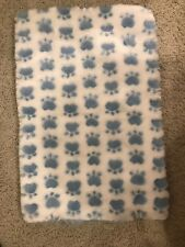 Dog Blue Paw Blanket