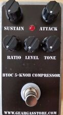 BYOC 5 Knob Compressor Pedal New ASSEMBLED