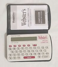 Franklin Websters Spelling Corrector Model Ncs-100 With Case and Instructions