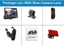 New 4inch HD 1080P Car Dvr 3 Camara Lens With Rear View Dash Cam Video Recorder