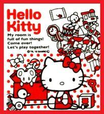 Hello Kitty white plastic shopping handle bag for snack gift pack M 20pcs