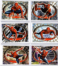 Spider-man  Movie 3 Spidey Red & Blue  complete  set  of 6 cards R1-R6