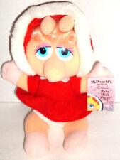 Baby MISS PIGGY plush McDonald's Presents Jim Henson 1988 Christmas 10in w/ Tags