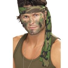 Army Fancy Dress Camo Headband Camouflage Soldier Head Band New by Smiffys