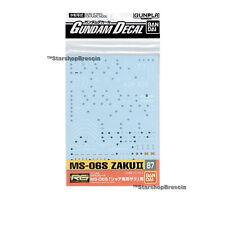 GUNDAM - 1/144 GD-87 RG MS-06S Char's Zaku II Decals Bandai