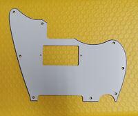 For US Fender Custom Telemaster Guitar pickguard PAF Humbucker, 3Ply White