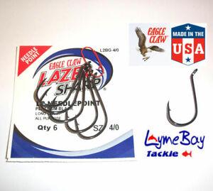 Eagle Claw L2B OCTOPUS Hooks - Sizes 4 to 9/0 - L2BG Needlepoint Lazer Sharp