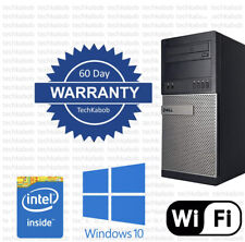 Dell Desktop PC Computer Windows 10 i5 3.1Ghz 8GB RAM 500GB WiFi Dual Monitor