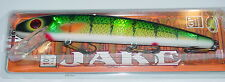 "10"" Jake Musky Mania Muskie Pike Crankbait Holoform Perch J10-902"