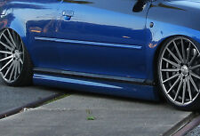 Design retrasadas faldones sideskirts ABS para VW Polo 6r