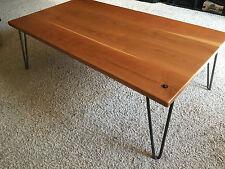 Beautiful Cherry Hardwood Coffee Table with Hairpin Legs
