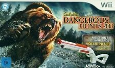 Nintendo Wii Cabelas Dangerous Hunts 2013 + Top Shot Elite Gun * Big Game Hunter