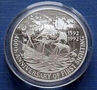 1992 Falkland Islands Coin 25 Pounds Elizabeth II Silver 155.6 grams KM# 39 Rare