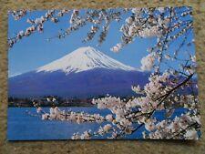 .2.JAPAN.POSTCARDS.MT.FUJI & CHERRY BLOOMS. PLUS  ITSUKUSHIMA SHRINE